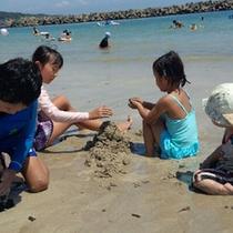夏は海水浴も◎◎小さなお子様も砂浜でお楽しみいただけます!