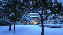 外から見た冬のラウンジ【ミニヨン】