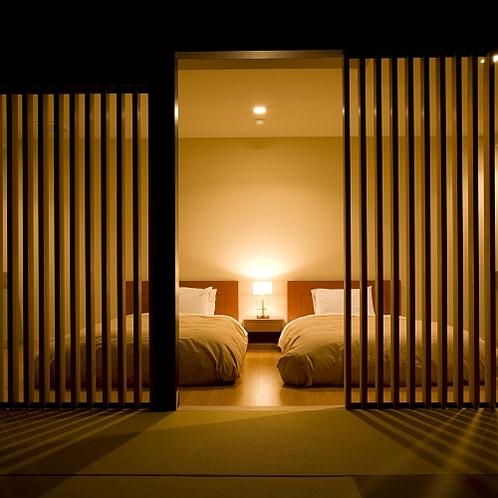 庭園付露天風呂客室・特別室一例