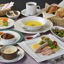 庭園付専用・朝食 洋定食一例