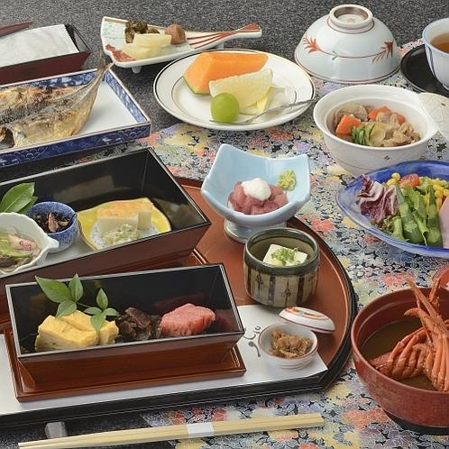 庭園付専用・朝食 和定食一例
