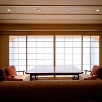 ◆客室_金泉銀泉露天付き貴賓室のリビング