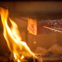 ◆シェフズルーム厨舎(焙窯会席)の調理イメージ