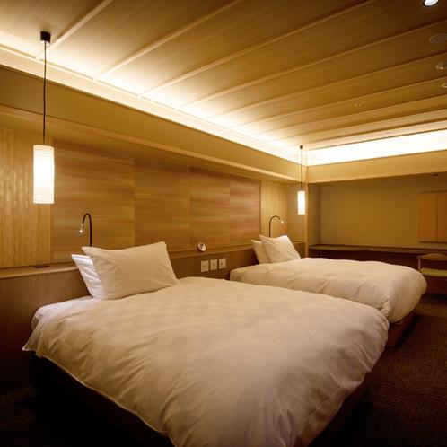 ◆客室_金泉銀泉露天付き貴賓室のベッドルーム