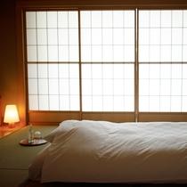 ◆客室_銀泉露天付き貴賓室の寝具