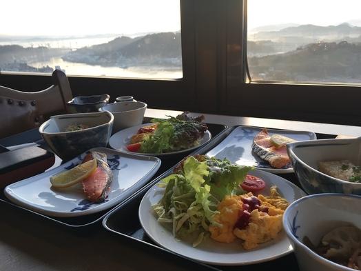 【駐車場なし】和定食の朝食つき(^^)/朝日の見えるレストランで♪静かな丘の上で安心STAY♪