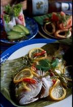 タイ料理コースプラーヌンマナオ