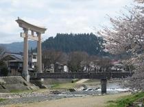 玄関前の宮前橋