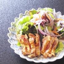 女将の地元、薩摩鶏のタタキ