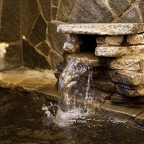 豊富に湧きでる、天然温泉