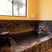 内風呂ももちろん、天然温泉かけ流し