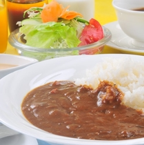 【選べる4種の朝食】《朝の野菜カレー》 ★ドリンクバー付き★