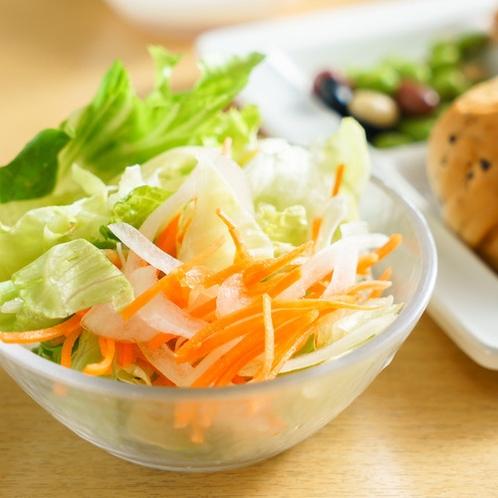 野菜サラダ皿盛り