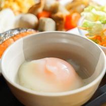 健康朝食バイキング温泉卵