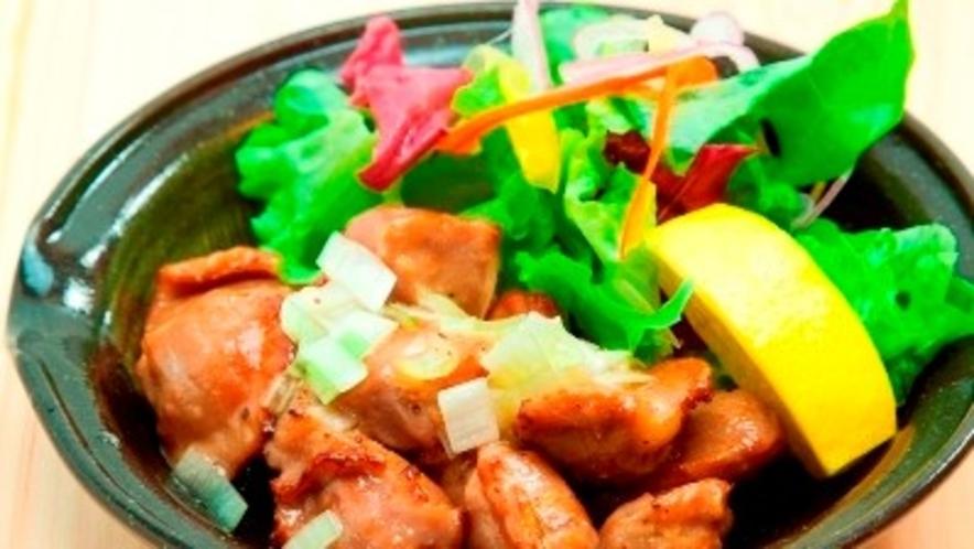 【日曜定休】夕食レストラン:コリコリ砂肝の葱塩だれ