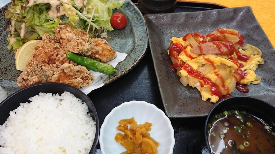 平日営業:夕食レストランある日の日替り定食