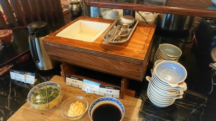 朝食レストランの人気メニュー 手作り豆腐
