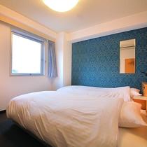 【エコノミーツイン】ツインルームの中で最もお得♪<100cm幅ベッド・無料Wi-Fi>