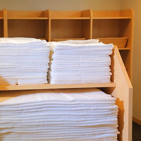 【脱衣所★タオルサービス】バスタオルもフェイスタオルどちらもご用意しております