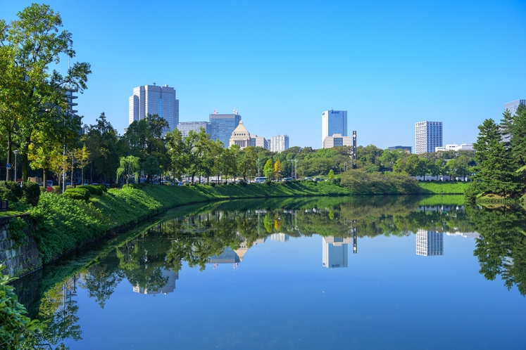 緑が多く閑静な街 永田町