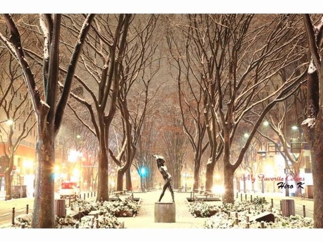 仙台光のページェント 雪景色