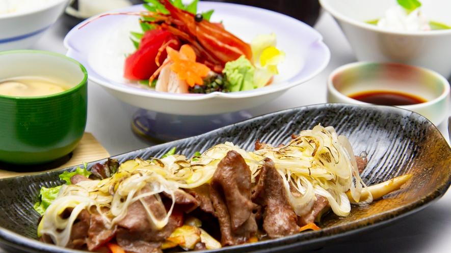 牛タンと地物野菜の葱塩焼膳
