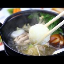 名物『コシヒカリ団子鍋』