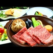 グレードアップ『にいがた牛の陶板ステーキ』