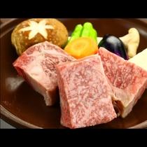 別注『幻の村上牛の陶板ステーキ』