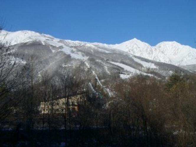 白馬の山々