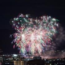 長野の冬花火・『えびす講』を客室から!11月開催