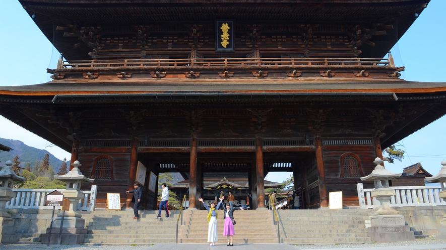 長野が誇る国宝・善光寺へぜひ♪ホテルから徒歩圏内!行楽日和には歩いて参拝がおすすめ~(#^^#)