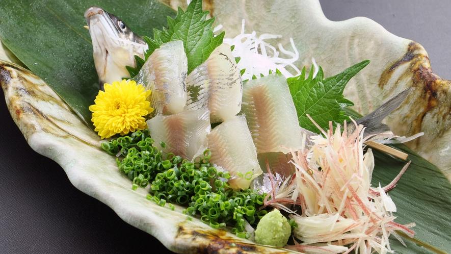 ~夏のお料理~新鮮な鮎をお造りでいただく!