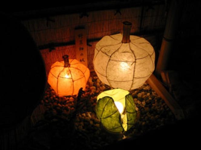 手作りの灯り