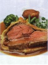 牛ランプ肉のロースト・グレービーソースで
