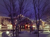 冬の外観 夜景