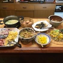 【お料理】朝食一例。お好きなものをお好きなぶんだけ♪