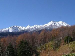 御岳山の冠雪