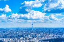 サンシャイン60展望台から見た都市風景