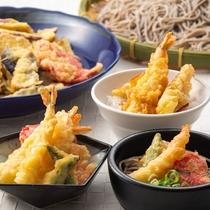 出来たて熱々の「天ぷら」をご用意。天丼や天ぷらそばなどアレンジも自由自在!