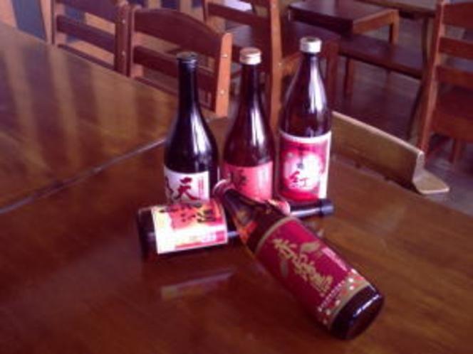 人気の赤や紫芋の焼酎