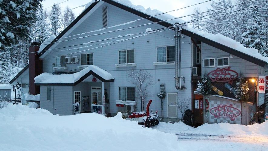 *外観(冬)/みなかみ温泉村のペンションです。