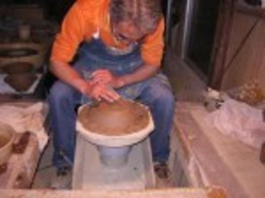 ◆【貴方も陶芸家・オプション】本格的ロクロ陶芸体験とフランス料理の宴を楽しむ【現金特価】