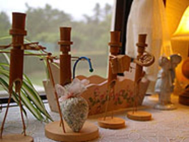 手作り竹人形楽団のお出迎え1