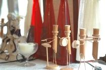 手作り竹人形楽団のお出迎え2