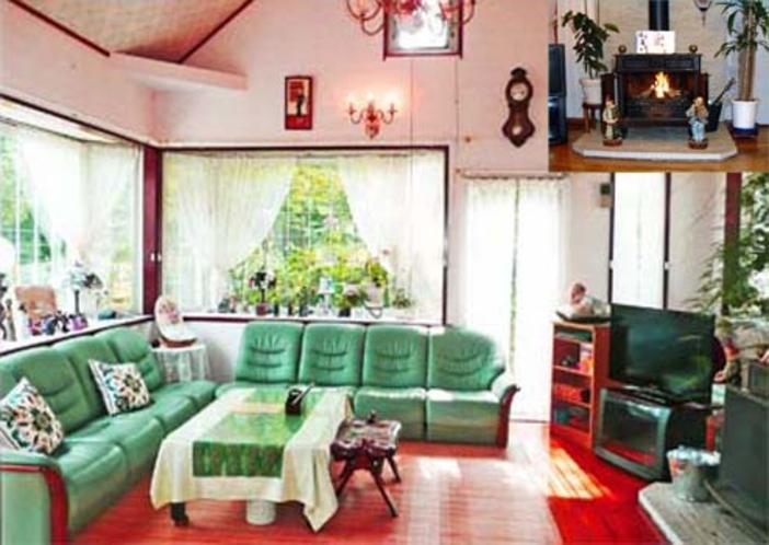 多目的室と暖炉