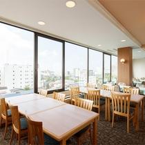 最上階の7階にあるレストラン