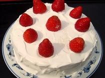 いちごを使った手作りケーキです♪