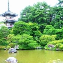 【輪王寺】曹洞宗金剛宝山、三重の塔や日本庭園と裏千家のお茶室が見事な東北一の禅寺です。