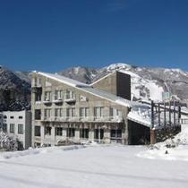 浅貝ゲレンデの雪景色